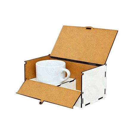 Caixa MDF Café da Manhã com Xícara