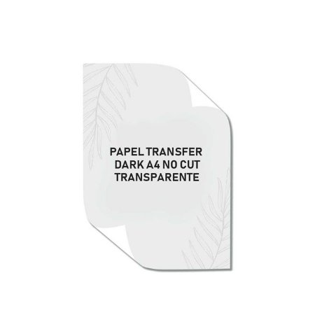 Papel Transfer Dark A4 Laser No Cut Transparente