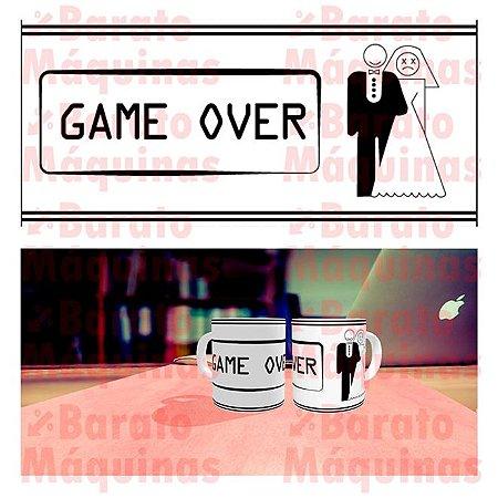 Game Over Mulher - Arte para Caneca