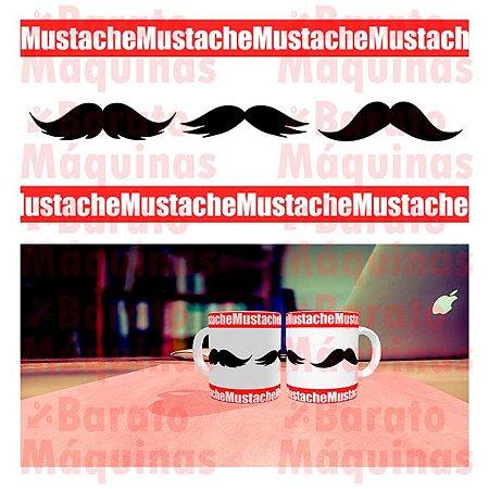 Bigode Mustache - Arte para Caneca