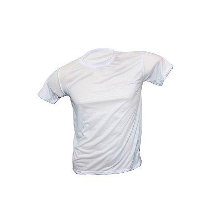 Camiseta Juvenil Poliéster Branca