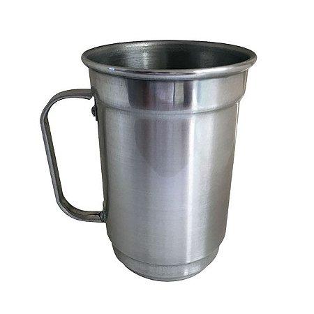 Caneca de Alumínio Chopp 650 ml Prata