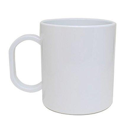 Caneca de Plástico Branca para Sublimação Premium
