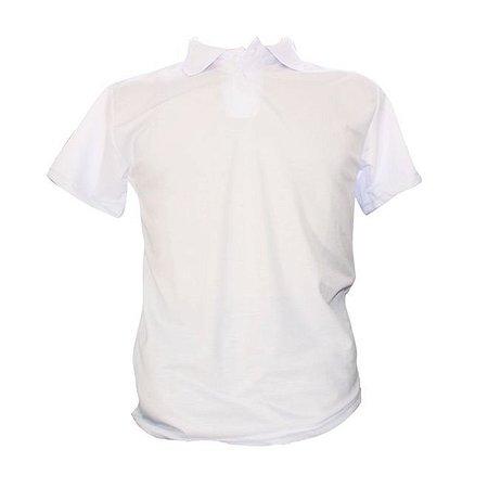 Camiseta Polo Poliéster Branca