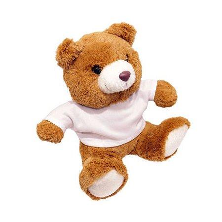 Urso Pelúcia Marrom com Camiseta para Sublimação