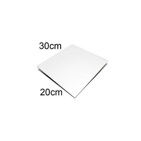 Chapa de Alumínio Branca 20 x 30 cm Sublimação