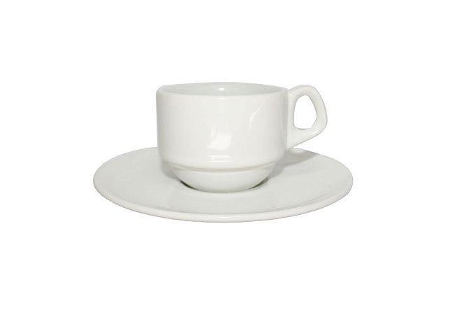 Xícara de Porcelana Café com Pires 75ml