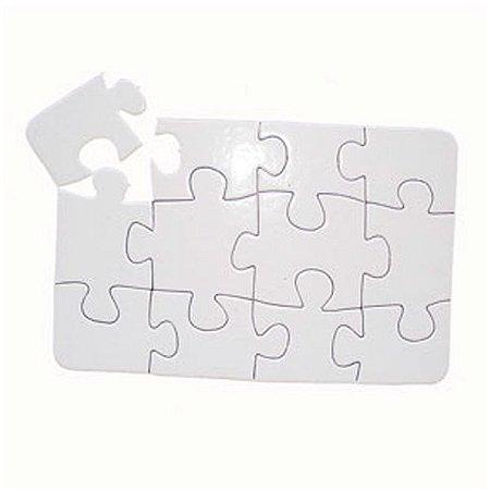 Quebra Cabeça A6 12 peças (5 Unidades)