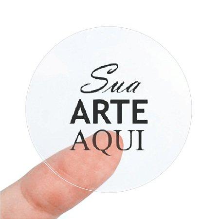 Etiqueta Adesiva 4x4cm Vinil Transparente Personalizado – Mod.: ADET44