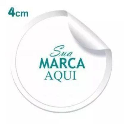 Etiqueta Adesiva 4x4cm Vinil Branco Personalizado – Mod.: ADE44