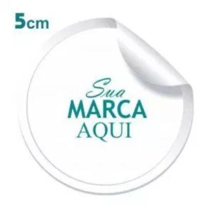 Etiqueta Adesiva 5x5cm Vinil Branco Personalizado – Mod.: ADE55