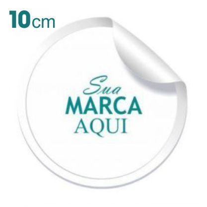 Etiqueta Adesiva 10x10cm Vinil Branco Personalizado – Mod.: ADE1010