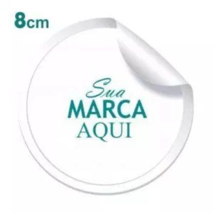 Etiqueta Adesiva 8x8cm Vinil Branco Personalizado – Mod.: ADE88