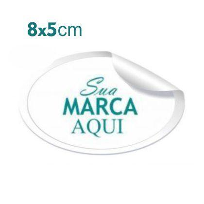 Etiqueta Adesiva 8x5cm Vinil Branco Personalizado – Mod.: ADE85