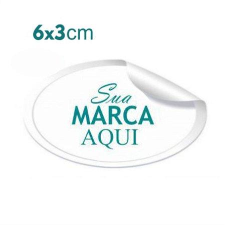 Etiqueta Adesiva 6x3cm Vinil Branco Personalizado – Mod.: ADE63