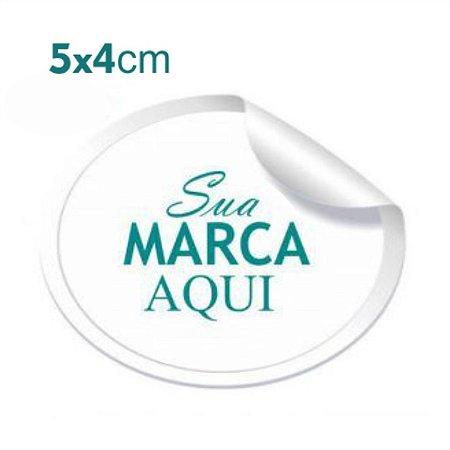 Etiqueta Adesiva 5x4cm Vinil Branco Personalizado – Mod.: ADE54