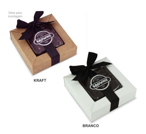 Caixa para 1 Brownie c/ 20 und - Liso – Mod.: C1BW1000