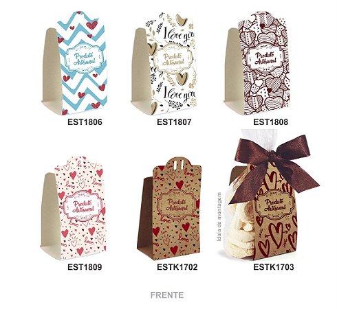 Embalagem para Biscoitos c/ 15 und – Estampas – Mod.: EBM1910