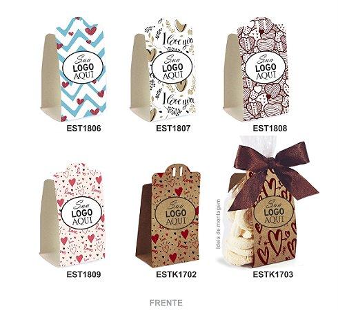 Embalagem para Biscoitos c/ 30 und – Estampas c/ Personalização –Mod.: EBMP1700