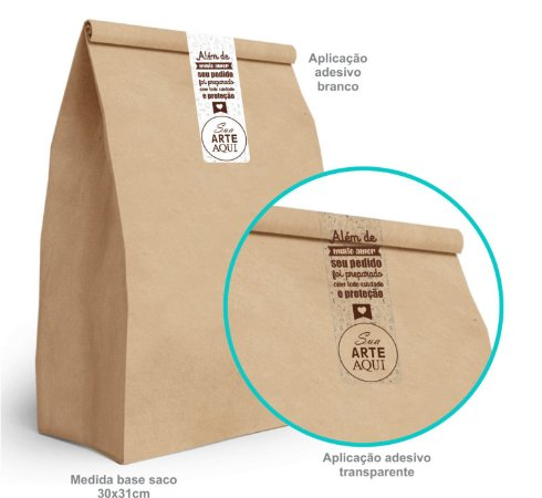 Adesivo Delivery Personalizado Vinil Branco/Transparente 3,5x10cm- Mod.: ALD200