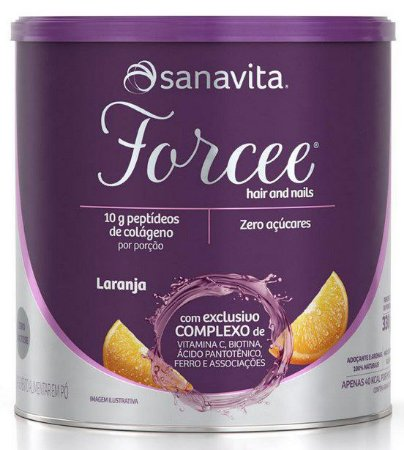 Forcee Hair & Nails Sabor Laranja 330 g