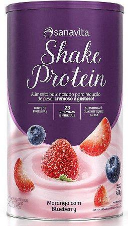 Shake Protein Sabor Morango com Blueberry 450g