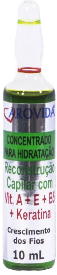Ampola de Vitamina A+E+B5+Keratina 10 ml