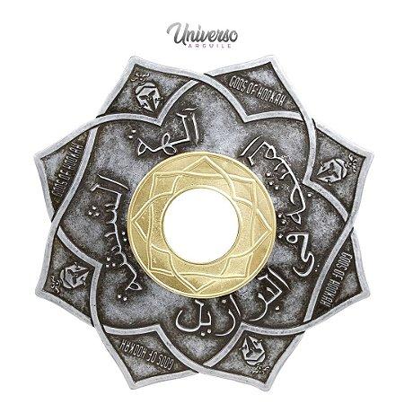 Prato Gods of Hookah Aegis Prata com Dourado