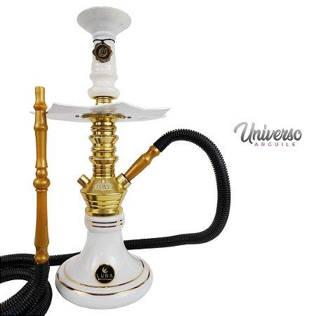 Kit Narguile Gods Of Hookah Bes V2 Dourado Completo Premium