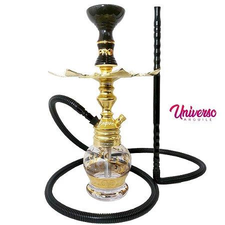Kit Stem NARGUILE Hookah King Empire Dourado Completo Premium