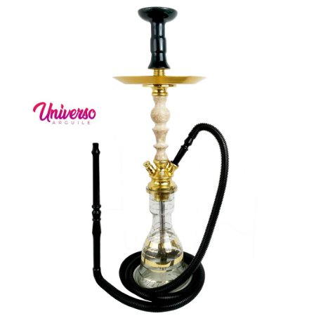 Kit Arguile Gods Of Hookah Mini Gaia Dourado C/ Mármore Basic