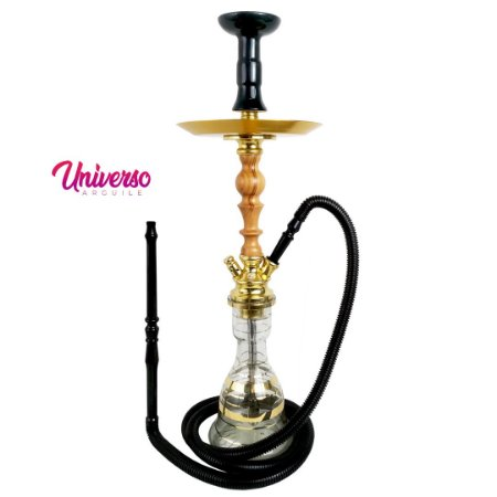 Kit Arguile Gods Of Hookah Mini Gaia Dourado C/ Madeira Basic