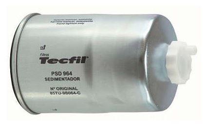 FILTRO SEDIMENTADOR FORD F1000 A 21000 86/.. S/SUPORTE MWM D226/4-ASP/TURB. // CARGO 1114/2324 85/.. // VW CAM 14-170/16-170 CUMMINS 97/.. // GMC D40/60/7110 96/.. (ROSCA) - PSD964