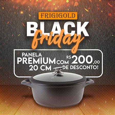 Black Friday Frigigold - Panela Frigigold linha Premium Fosca 20cm com tampa