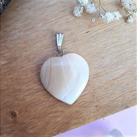 Pingente Coração de Madrepérola