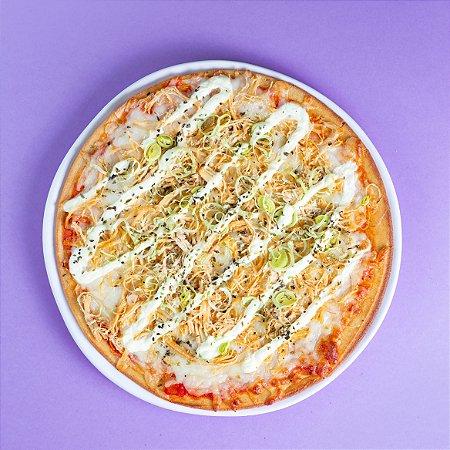 Pizza de Frango com Requeijão FIT