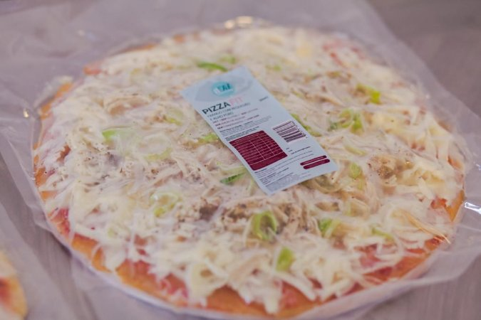 Pizza de Frango com Requeijão FIT