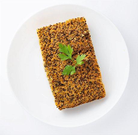 Quibe de Abóbora com Mix de Quinoa recheado com Caponata de Berinjela (Vegano) - 350g