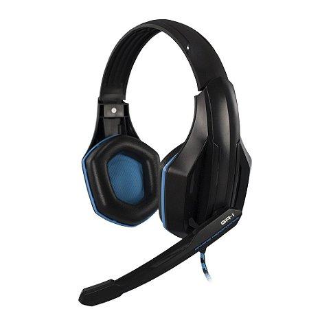 Headset Gamer  GA-1Hoopson Pro Stereo, Preto e Azul