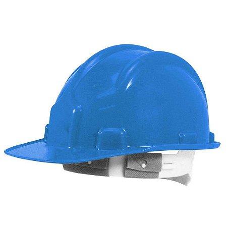 Capacete Segurança Azul Plastcor com carneira