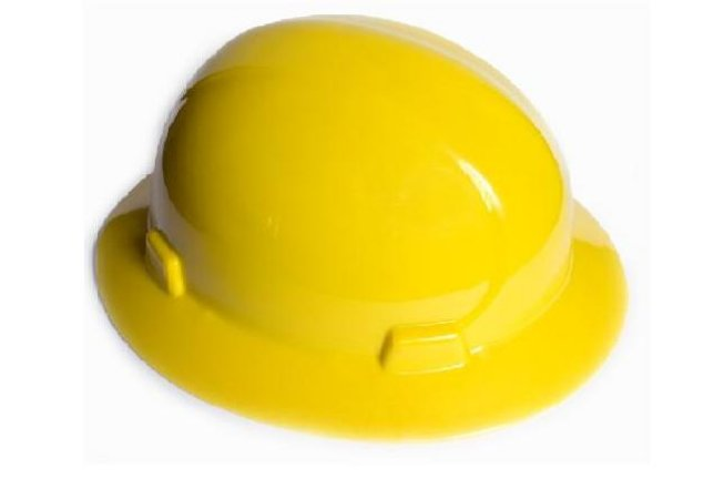 Capacete Aba Total Classe B Amarelo C/carneira