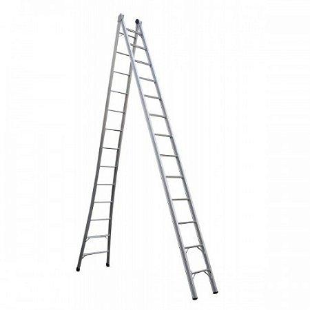Escada extensivel 13 degraus 4,20m X 7,20m marca Real