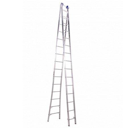 Escada extensivel 15 degraus 4,20m x 80m  marca Real