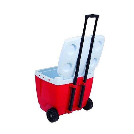 Caixa térmica 42 litros azul mor vermelha