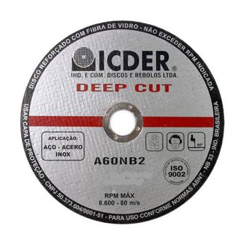 Disco De Corte 4.1/2 Deep Cut Steel - Icder