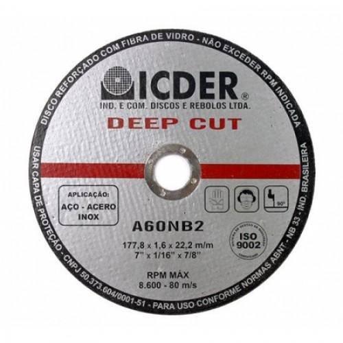 Disco De Corte - 9 X 1/16 X 7/8 - Deep Cut Icder