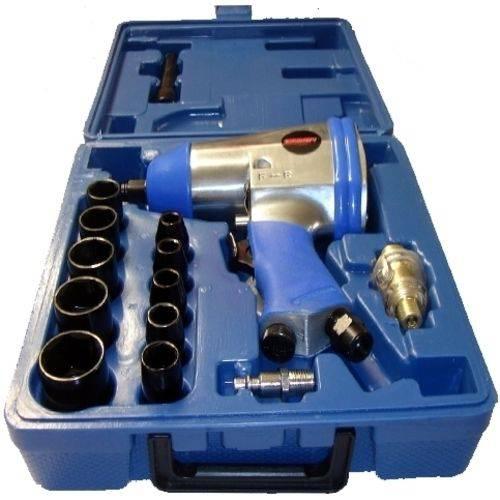 Chave Impacto Pneumática 1/2  C/ Kit Soquete