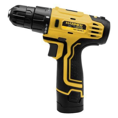 Parafusadeira 12v Lítio Bivolt Hammer +1 Bateria