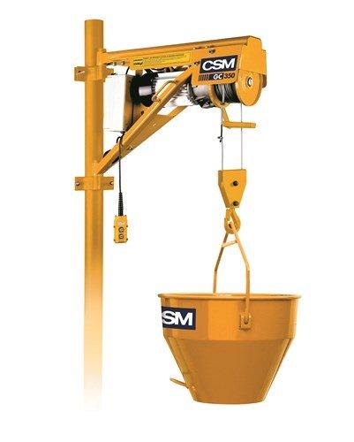 Locação guincho 350kg com balde e suporte csm