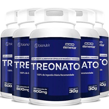 Kit 5 Magnésio L Treonato 500mg - 300 Cápsulas Bionutrir